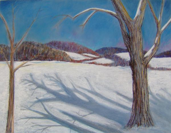 a winter tree painting