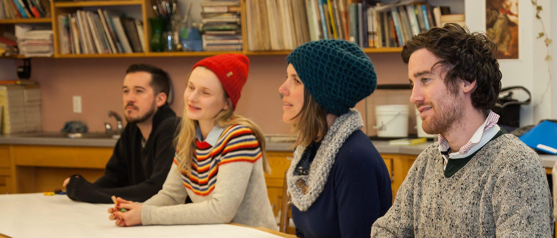 Alkion students in conversation