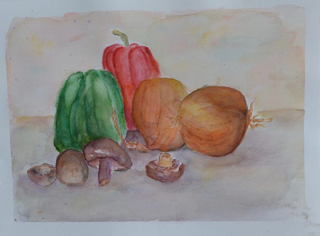 watercolor of vegetables