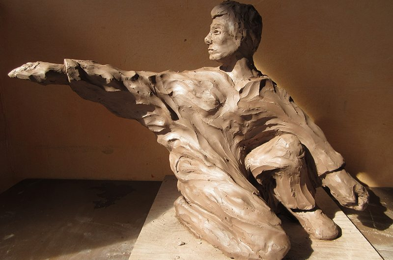 A carved figurine