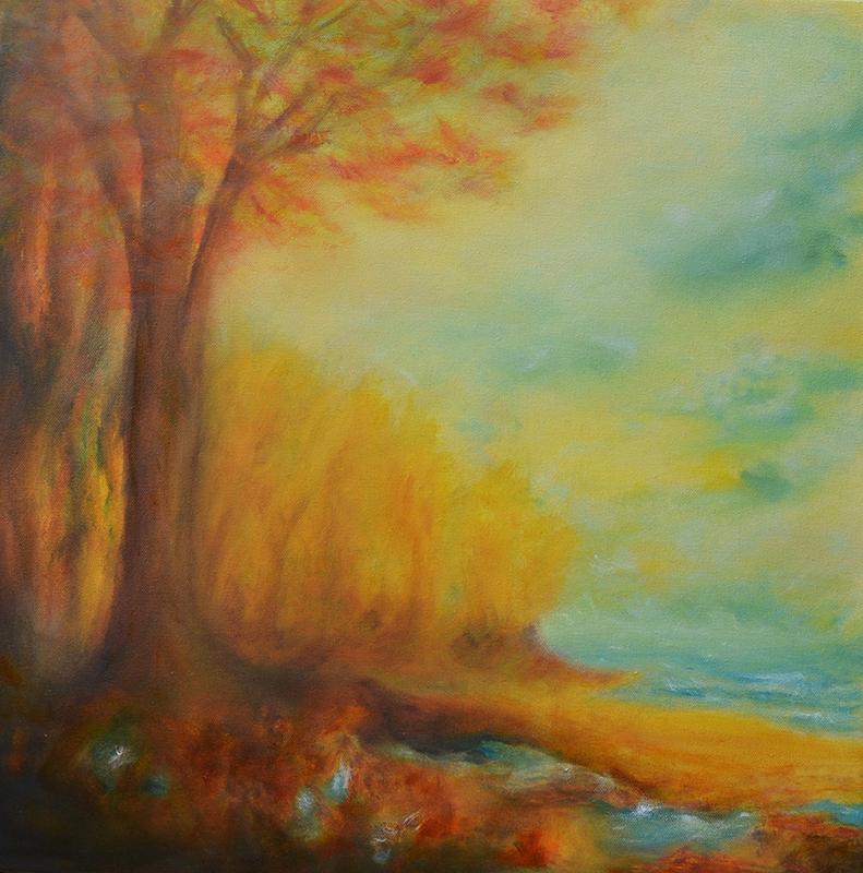 visual art student work autumn trees