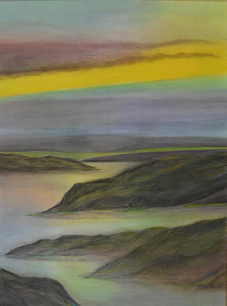 watercolor layer painting landscape/seascape