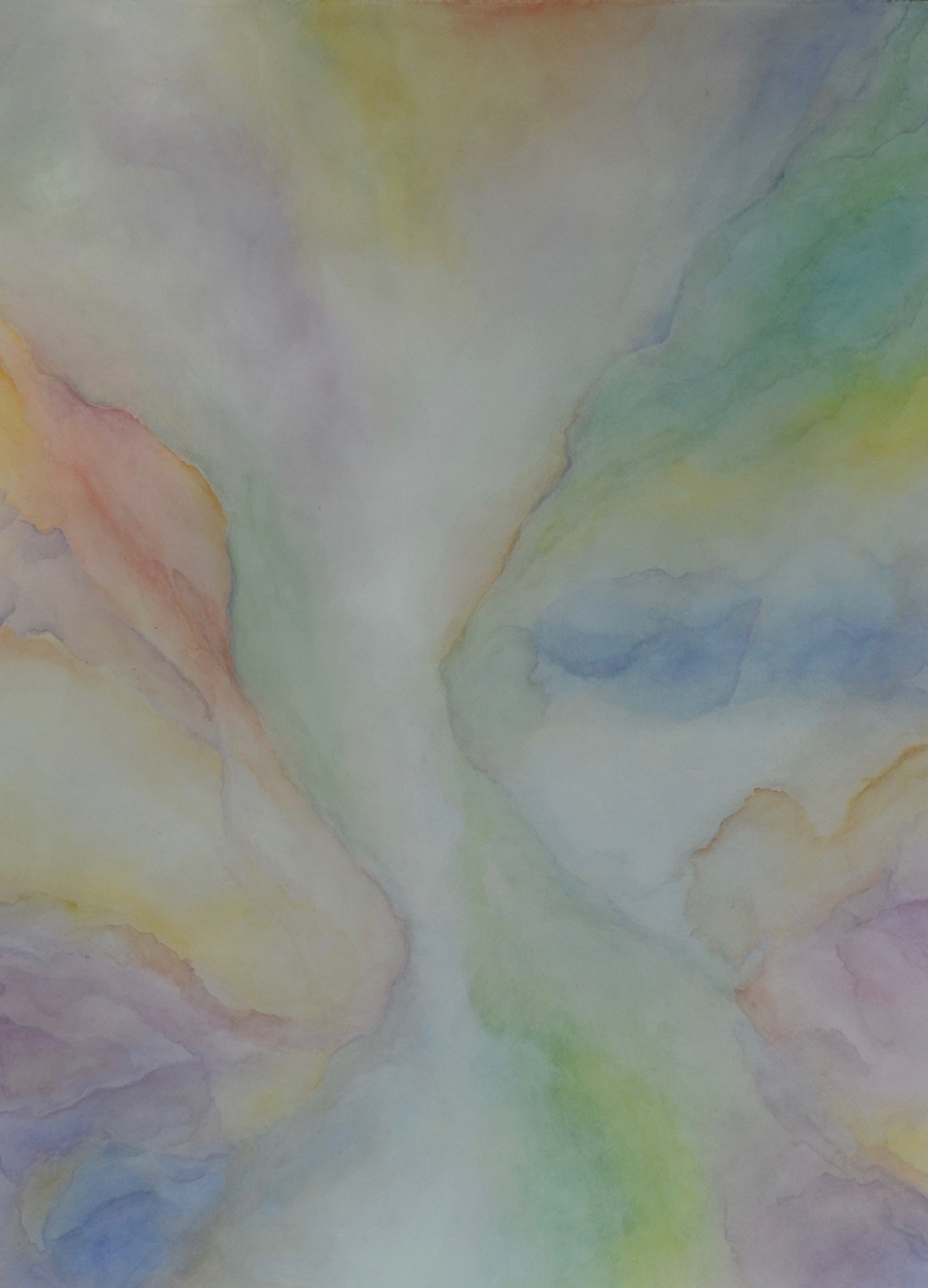 abstract watercolor layer painting