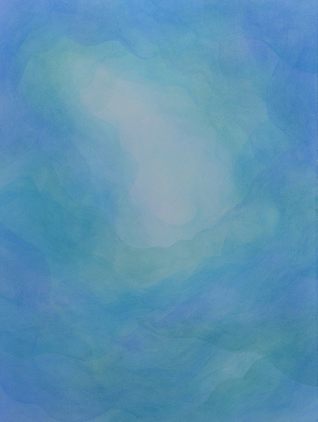 watercolor layer painting abstract blues