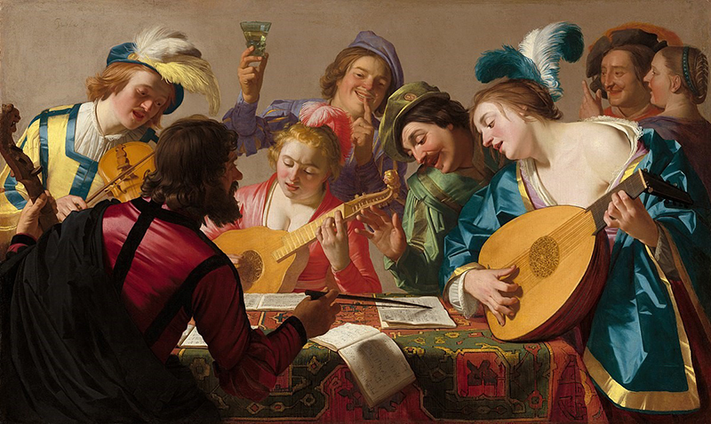 painting of musicians by Garrit van Honthorst